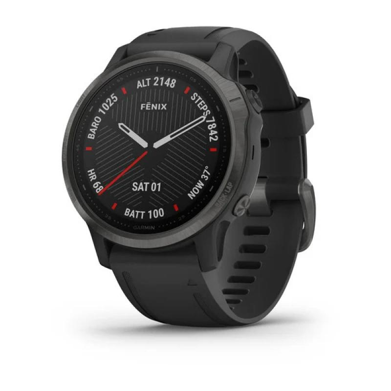 fēnix® 6S - Sapphire Editions Carbon Grey With Black Band
