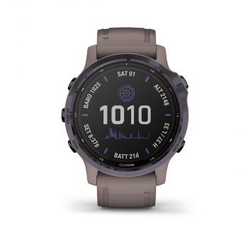 fēnix 6S - Pro Solar Edition | Amethyst steel with shale gray band
