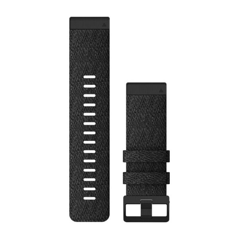 QuickFit® 26 Watch Bands | Heathered Black Nylon