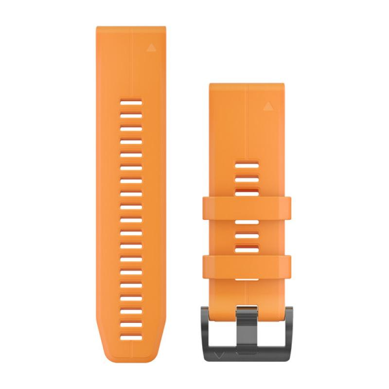 QuickFit® 26 Watch Bands | Solar Flare Orange Silicone