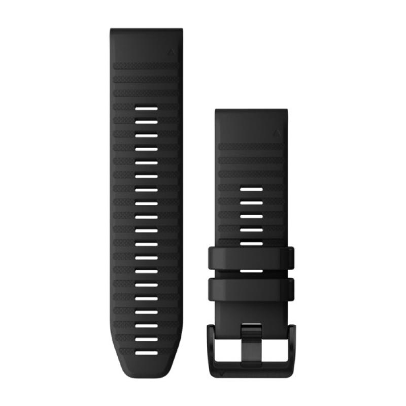 QuickFit® 22 Watch Bands | Black Silicone
