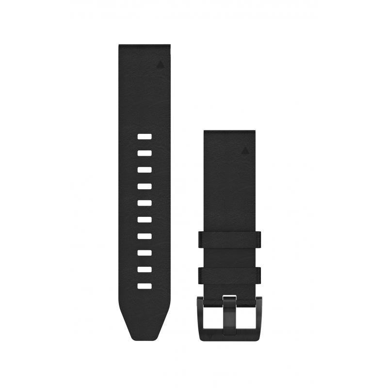 QuickFit® 22 Watch Bands | Black leather