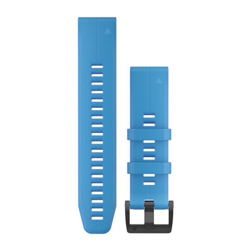 QuickFit® 22 Watch Bands | Cyan blue silicone