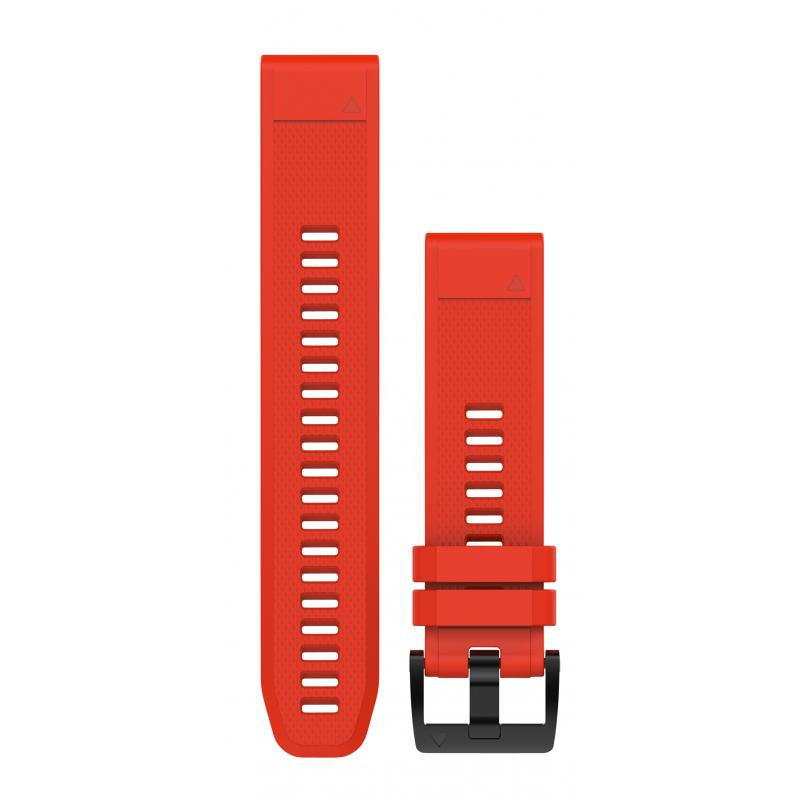 QuickFit® 22 Watch Bands | Flame Red Silicone