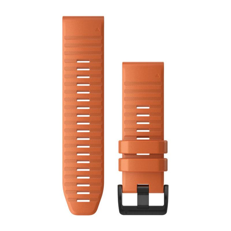 QuickFit® 22 Watch Bands | Ember Orange Silicone