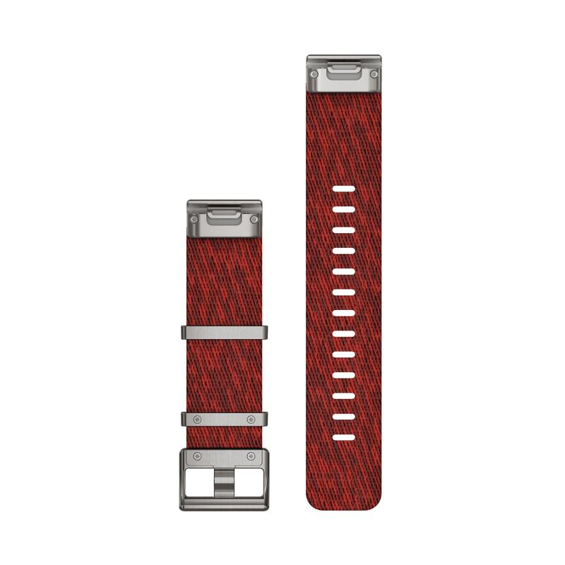 QuickFit® 22 Watch Bands | Heathered Red Nylon