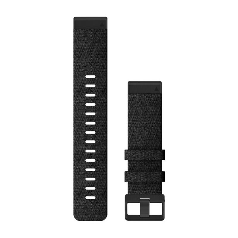 QuickFit® 22 Watch Bands | Heathered Black Nylon