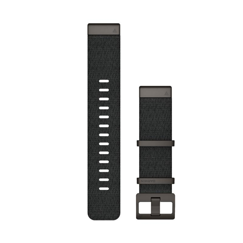 QuickFit® 22 Watch Bands | Jacquard-weave Nylon Strap – Heathered Black
