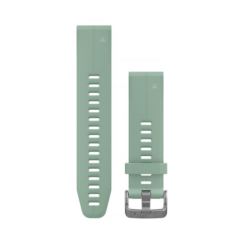QuickFit® 20 Watch Bands | Greyed jade silicone