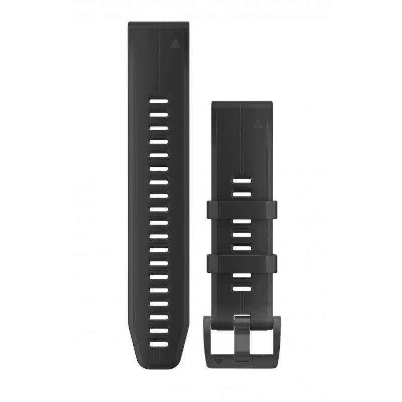 QuickFit® 20 Watch Bands|Black Silicone