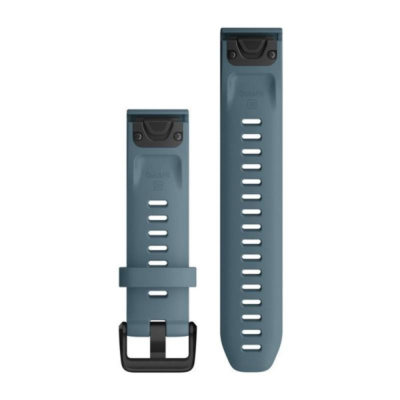 QuickFit® 20 Watch Bands|Lakeside Blue Silicone