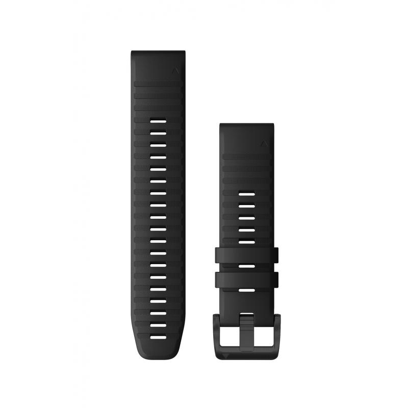 QuickFit® 26 Watch Bands | Black Silicone