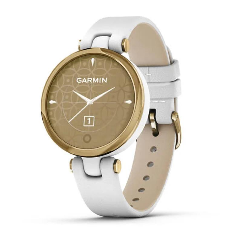 Lily™ Light Gold Bezel with White Case and Italian Leather Band
