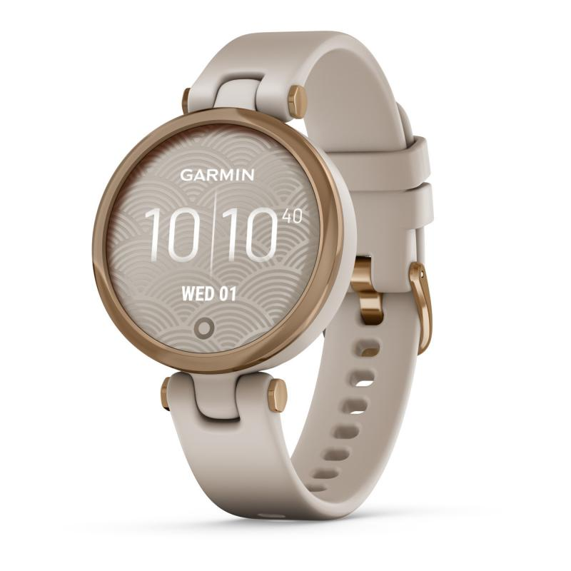 Lily™ Rose Gold Bezel with Light Sand Case and Silicone Band