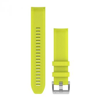 MARQ QuickFit® 22 Watch Straps Amp Yellow Silicone Strap