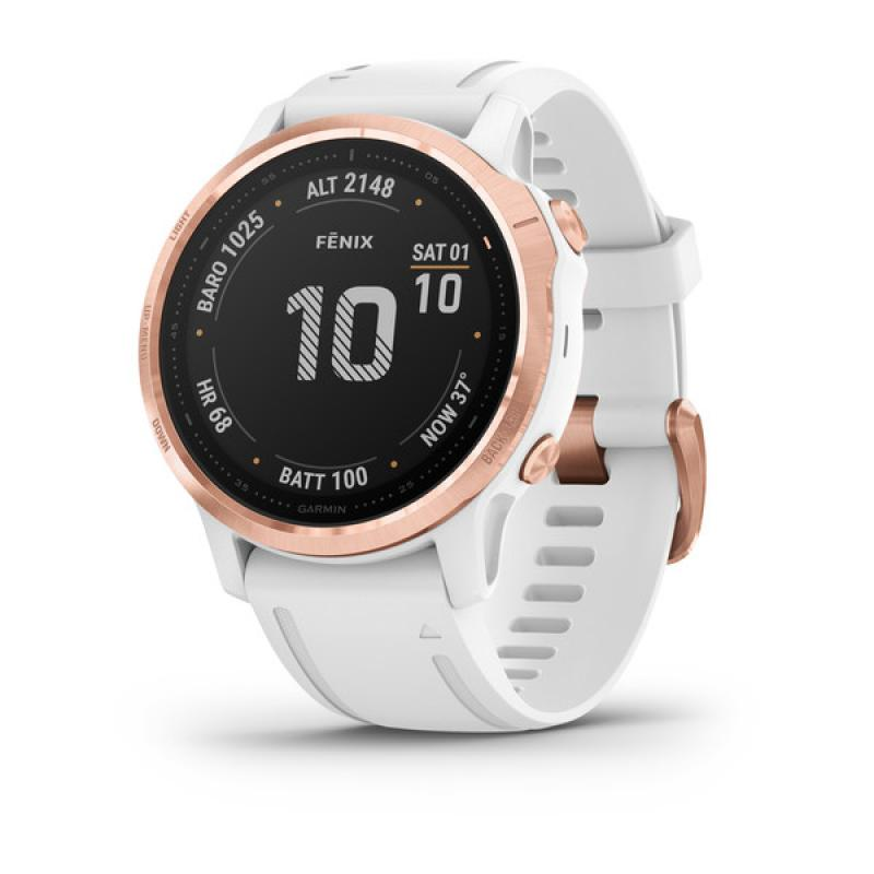 fēnix® 6S Pro Rose gold-tone with white band